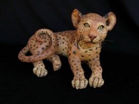 "Baby Leopard - approx. 12""H x 14""W x 20""D"