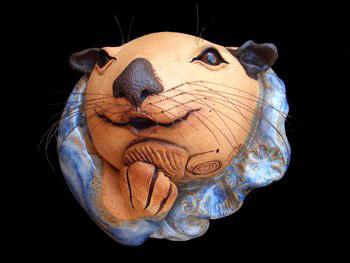"Wall Otter approx. 7.5""H x 7.5""W x 5.5""D"