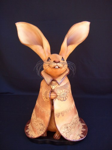 """Caped Rabbits Large, with base - approx. 23""""-27""""H"""