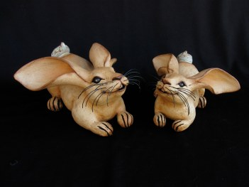 """Crouching Table Rabbits - approx. 6""""H x 8""""W x 10""""L"""