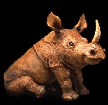 "Rhino, Large Sitting - approx. 21.5""H x 15""W x 36""L"