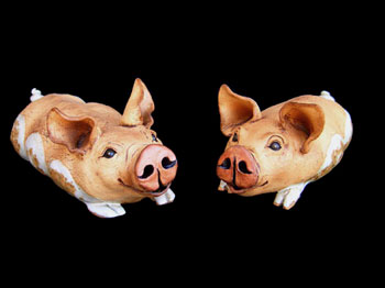 """Lying table-top Pigs - approx. 5""""H x 6""""W x 12""""L"""