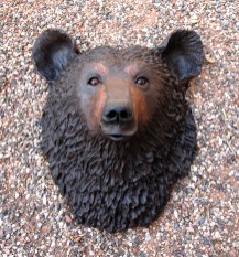 "Bear Wall Head - approx. 16""H x 13""W x 9""D"
