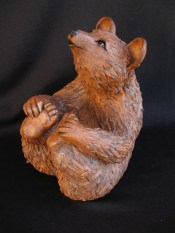 "Brown Bear Table-size - approx. 7""-9""T"