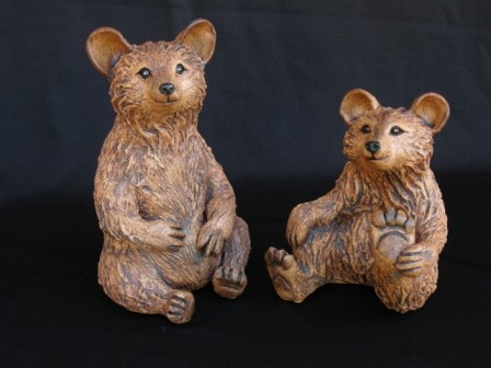 "Brown Bears Table-size - approx. 7""-9""T"