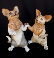 """Cats_Standing - approx. 12-14""""H x 8""""W"""