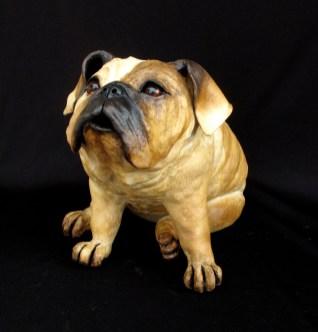 "English Bulldog - approx. 14""H x 14""W x 20""D"
