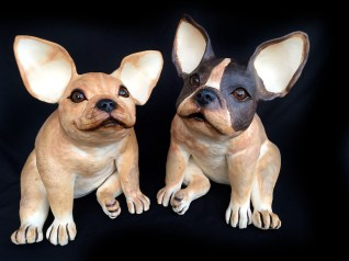 """French Bulldogs approx. 14""""H 10""""W 13""""D"""