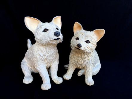 "Westie Terriers Large - 15.5""H x 10.5""W x 18""D Small - 14.5""H x 11""W x 17""D"