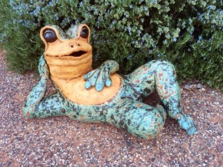 "Large Lying Frog - approx. 15""H x 17""W x 29""L"