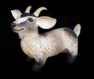 "Goat, table-size - approx. 9""H x 5""W x 11""L"