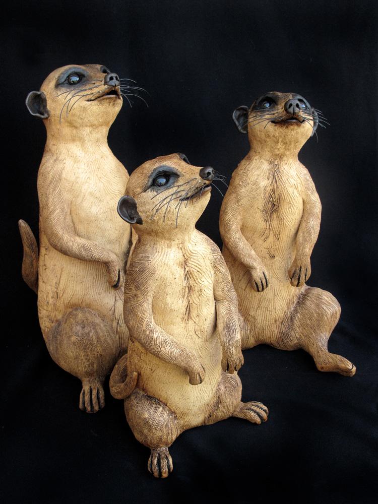 "Meerkats - approx. 10-12""H x 6-7""W x 7.5""D"