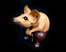 "Table-size Mouse - approx. 7""H x 5""W x 7""D"