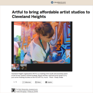ARTFUL news story august 2015 cleveland