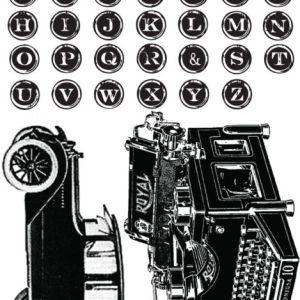 Romance Novel cling stamp set