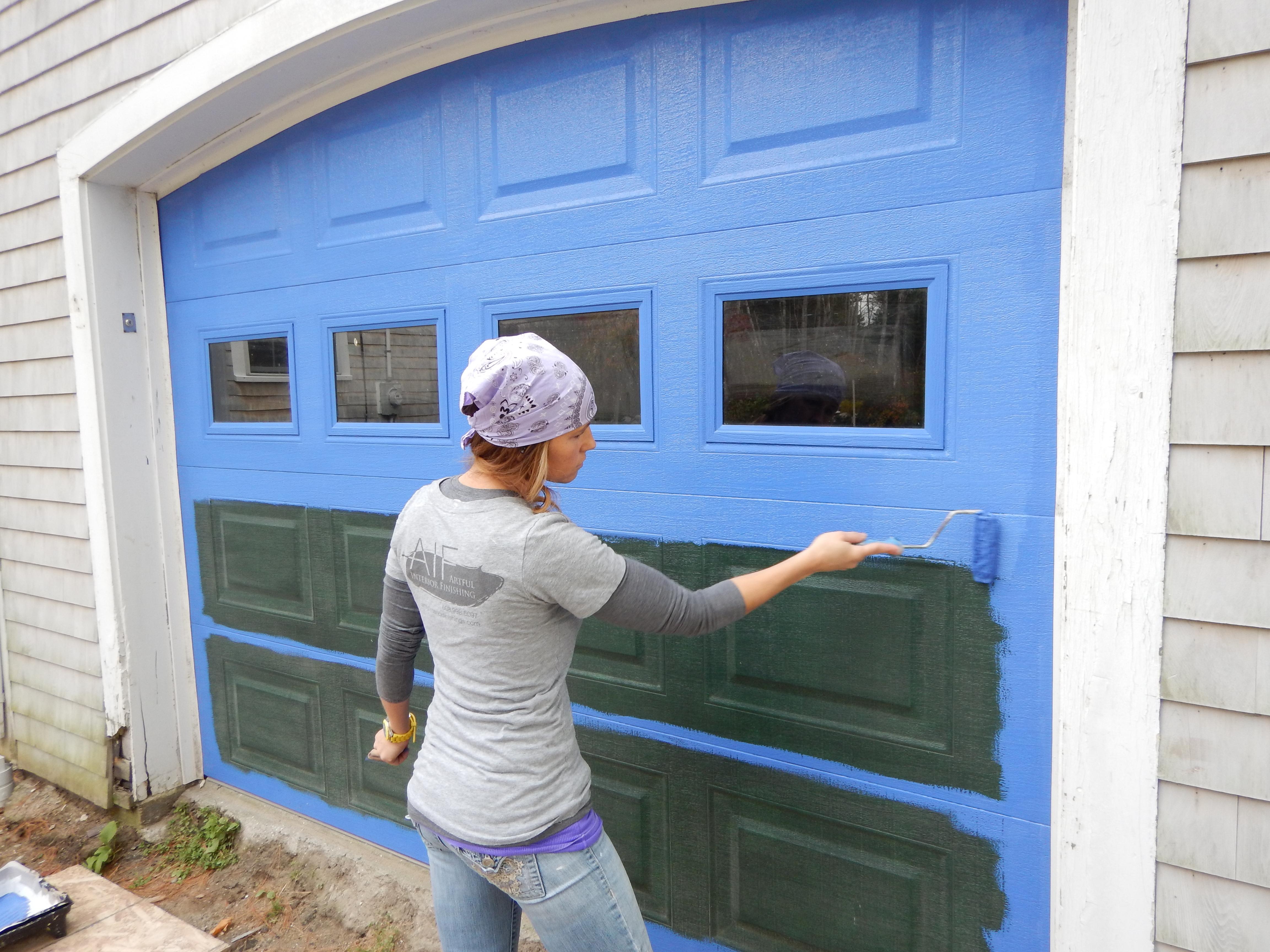 Garage Door Makeover! - The Artful Interior Blog on Garage Door Paint Ideas  id=96464