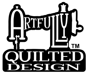 Artfully Quilted Design Square Logo