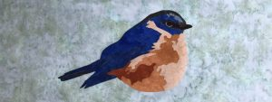 bluebird, applique, quilting, fusible, laser cut, hope