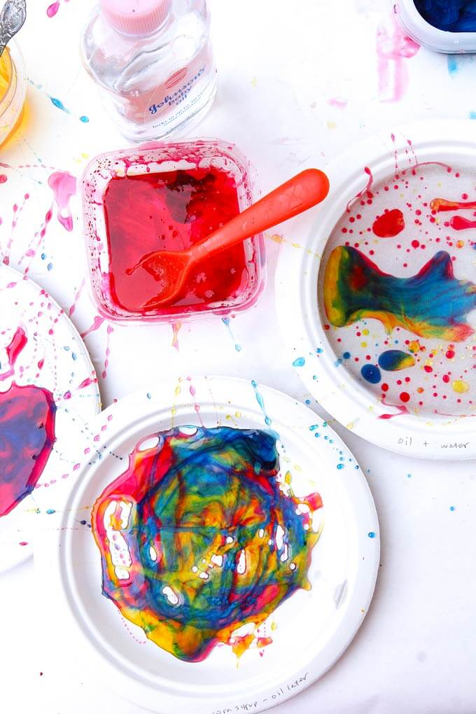 Process Art for Kids - Ooey Gooey Oily Art