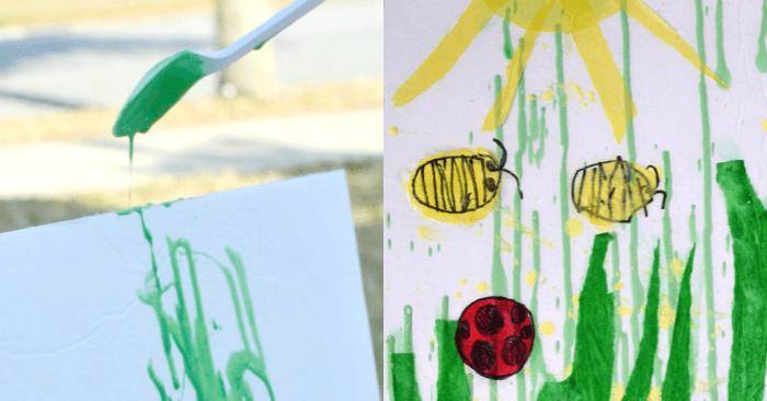 Gravity Art Activity for Kids