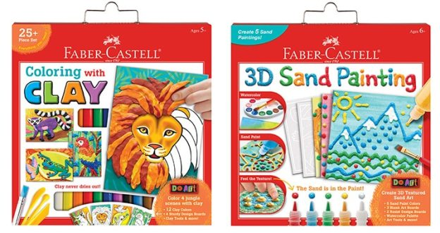 Faber Castell Do Art Coloring with Clay & Faber Castell Do Art 3D Sand Painting