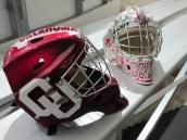 Nick Holmes, (Red); Louis Libin (White) University of Oklahoma Goaltenders.