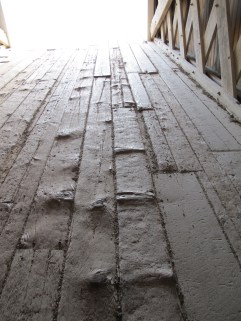 Hogback Bridge flooring. (Photo: Patricia Teter. All Rights Reserved.)