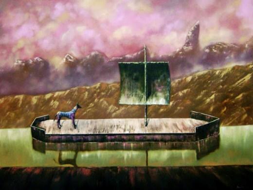 Boat with Zebra by Piedrahita