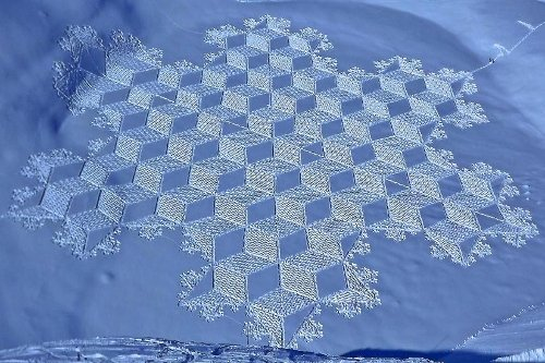 Snow Art by Simon Beck. Copyright © Simon Beck