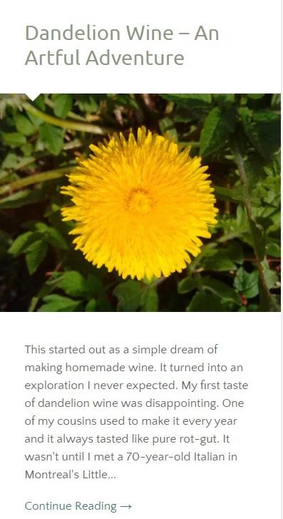 Dandelion Wine Intro