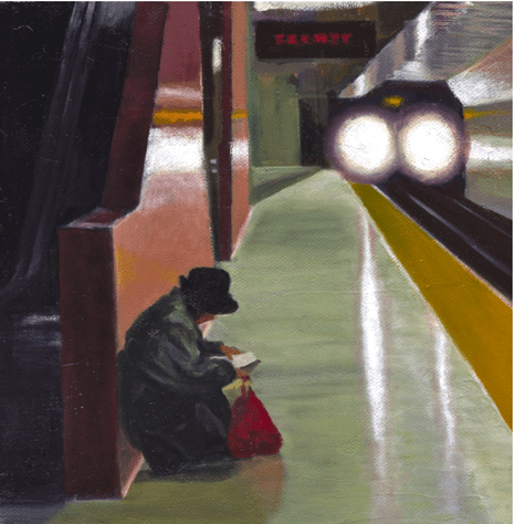 Artwork: Woman in Hat by Elizabeth Ennis