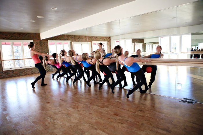 barre class and instructor