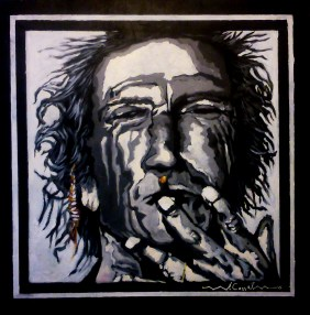 Keith Richards (11) 70 x 70 2015