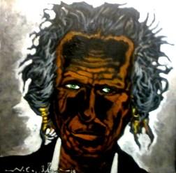 Keith Richards (36) 50 x 50 2015