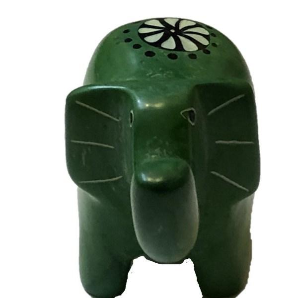 Soapstone Elephant Green