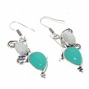 Chalcedony and Moonstone Earrings