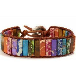 Colorful stone bracelet