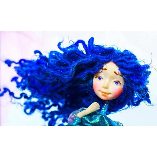 Collectible Doll Blue Hair