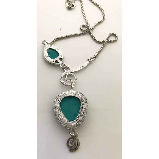 Necklace - Silver and Turquoise