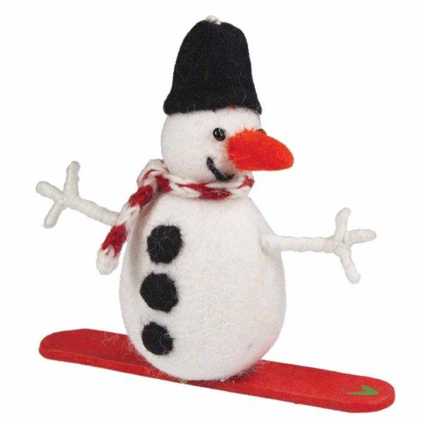 Felt Snowboard Snowman