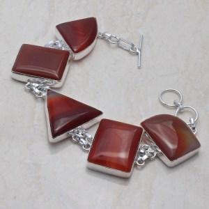 Botswana Agate Silver Bracelet