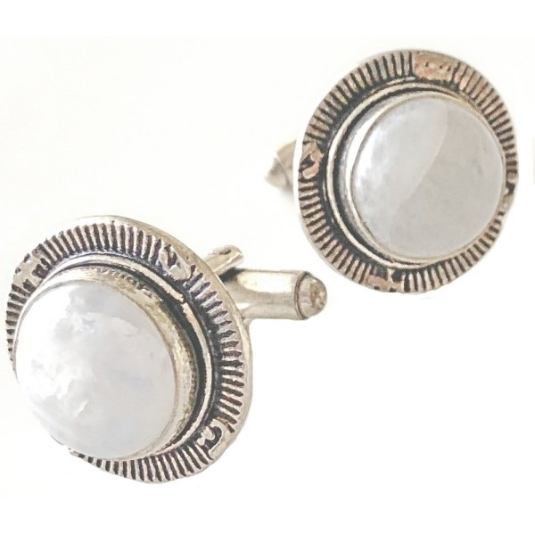 Sterling Silver Cufflinks Moonstone