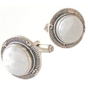 Sterling Silver Cufflinks Moonstone