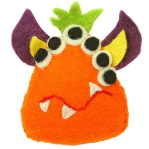 Felt Tooth Fairy Pillow – Orange Monster