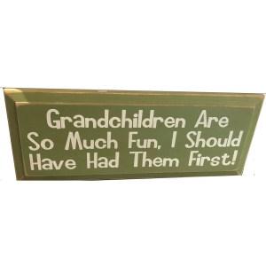Wood Tile – Grandchildren are so much fun