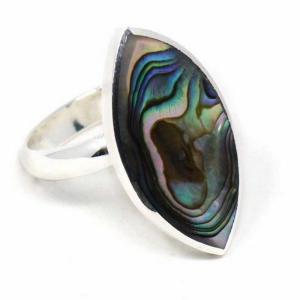 Ring – Silver Plated, Abalone
