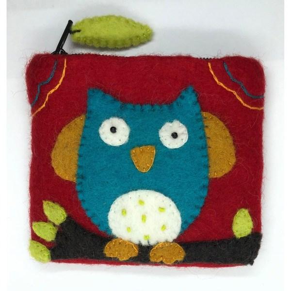 Felt Coin Purse - Owl