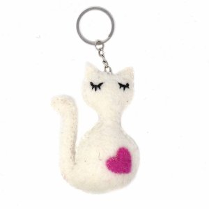 Felt Key Chain – Cat