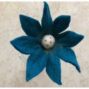 Felt Flower – Blue Lily