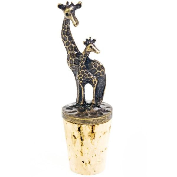 Momma and Baby Giraffe Cork Stopper